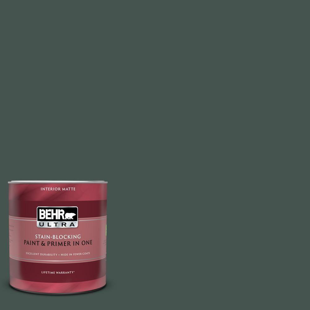 Behr Ultra 1 Qt Ecc 45 3 Conifer Matte Interior Paint And Primer In One 175304 Exterior Paint Behr Exterior