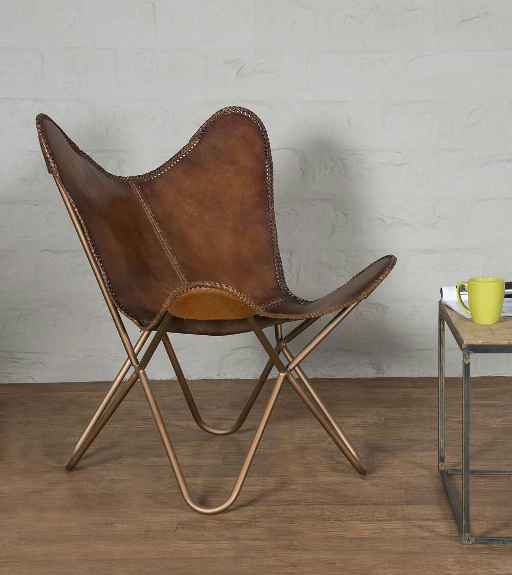 metal leather lounge chairs from home glamour. #shanty2chic #diy