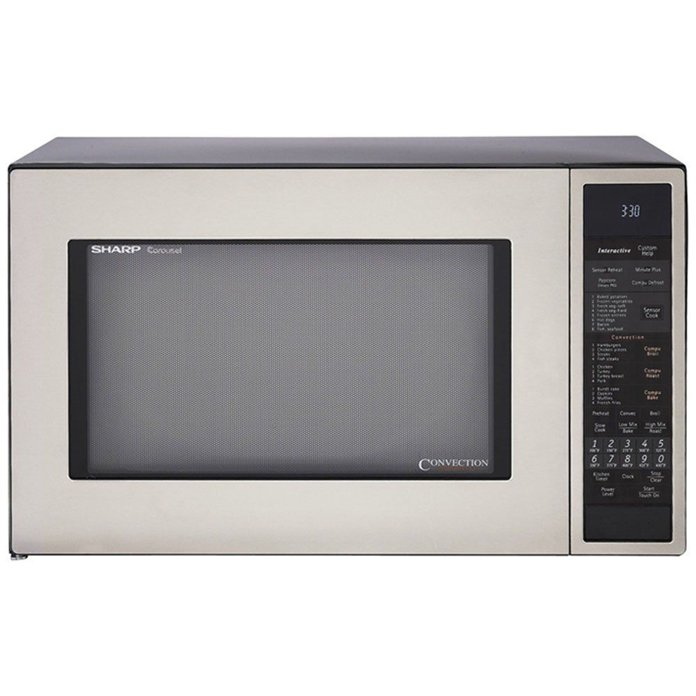 Sharp R 930cs 1 1 2 Cubic Feet 900 Watt Convection Microwave