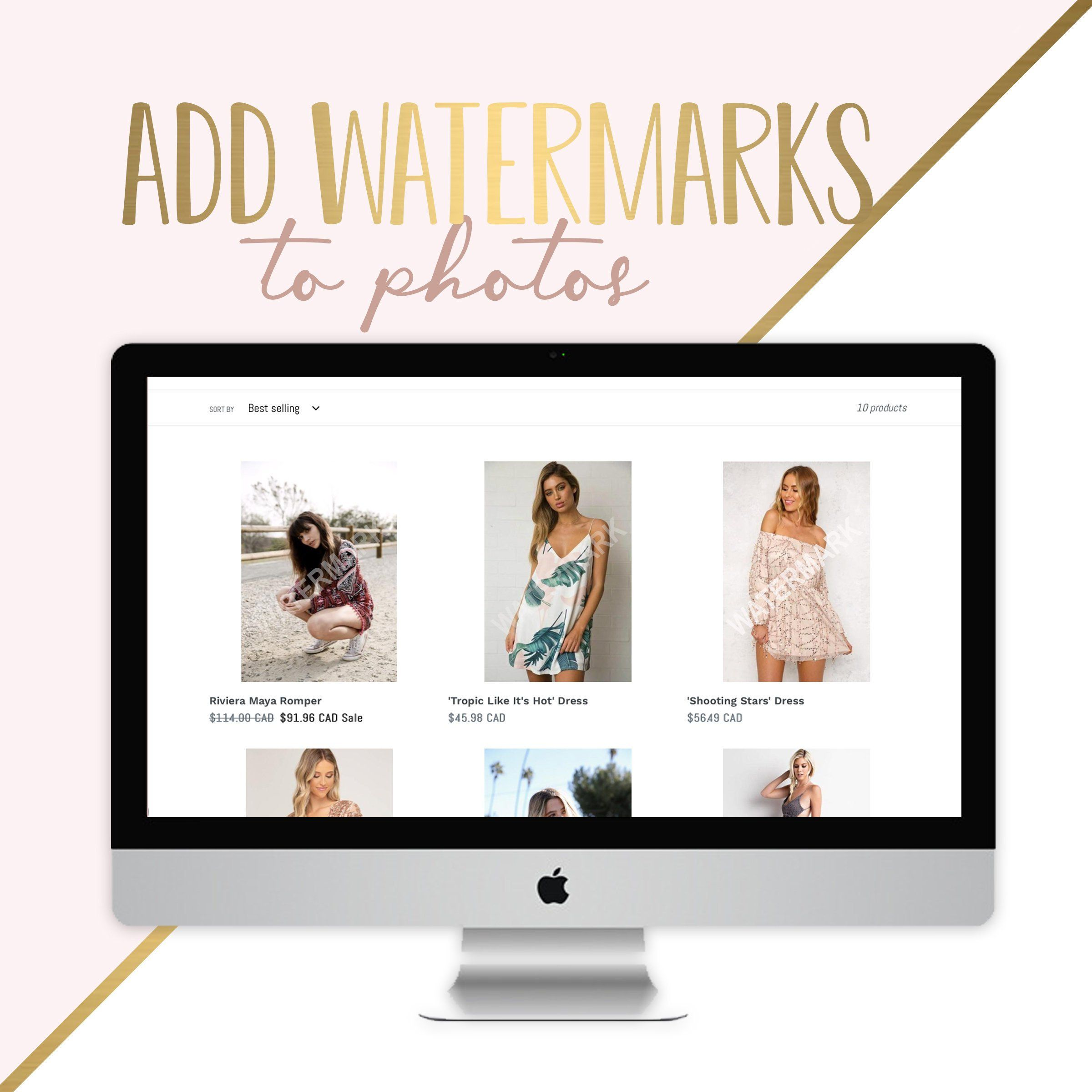 Add Watermarks, Website Designing, Shopify Services, Photo