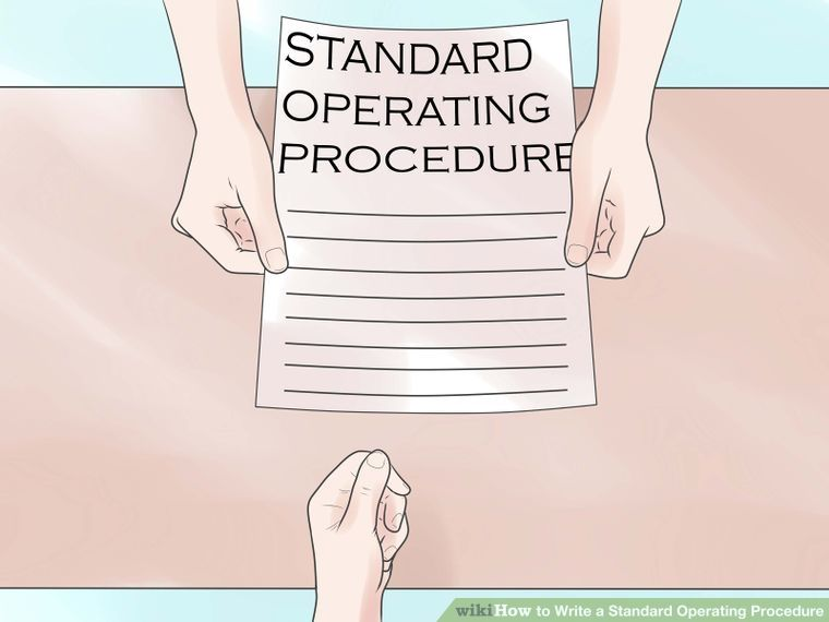 Write A Standard Operating Procedure  Standard Operating Procedure