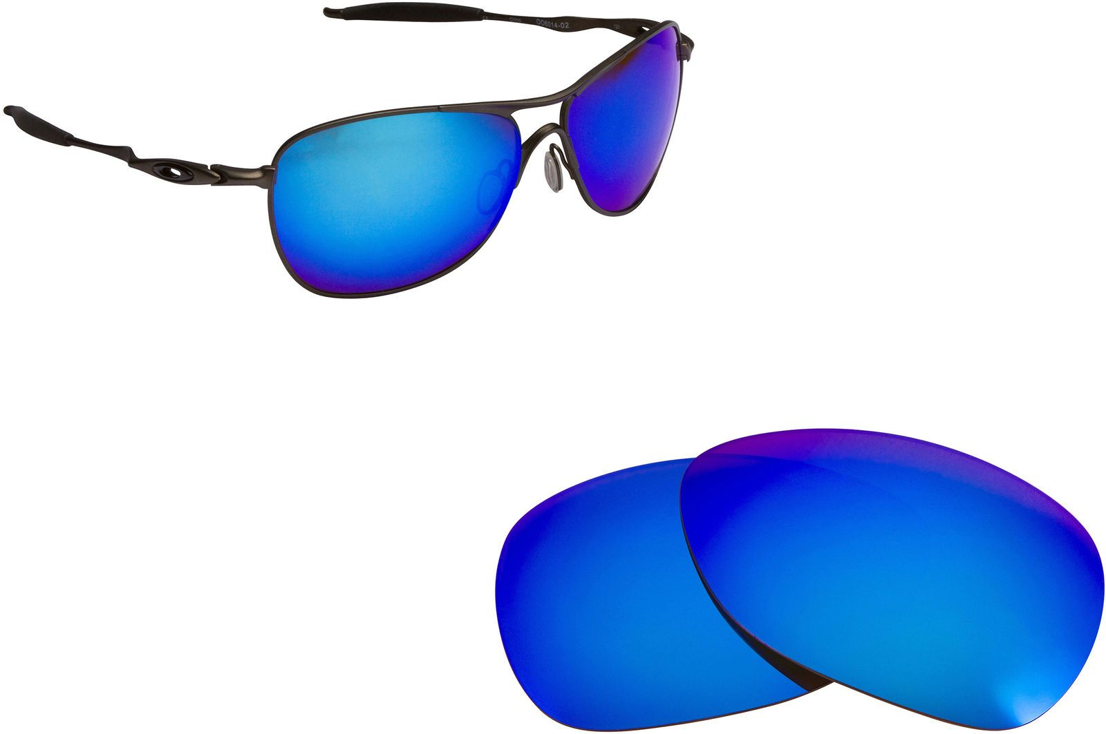41a52343831 Best Ow Polarized Replacement Lenses For Oakley Crosshair (Oo6014) Blue  Mirror