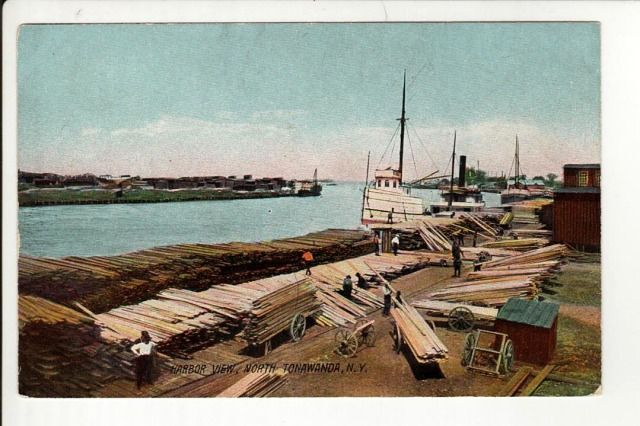 erie canal postcard