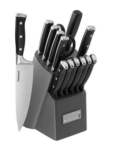 Cuisinart 15 Piece Forged Triple Riveted Knife Block Set