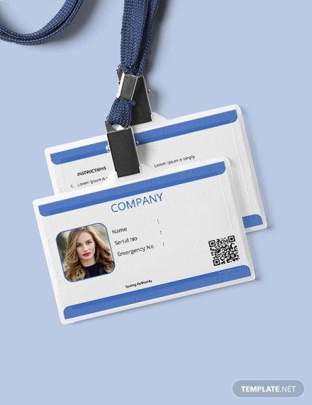 Free Company Blank ID Card Id card template, Templates