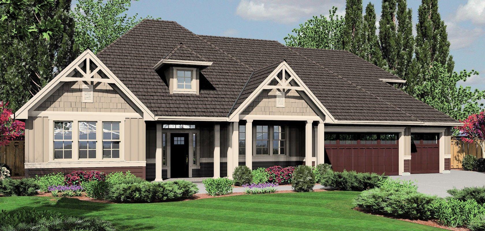 Mascord House Plan 22158a The Jasper Craftsman House Plans Craftsman Style House Plans Ranch Style House Plans