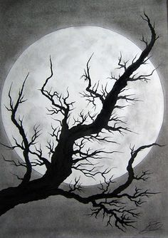 Drawing Tree Light Dark Google Sok Dark Drawings Dark Art Drawings Art