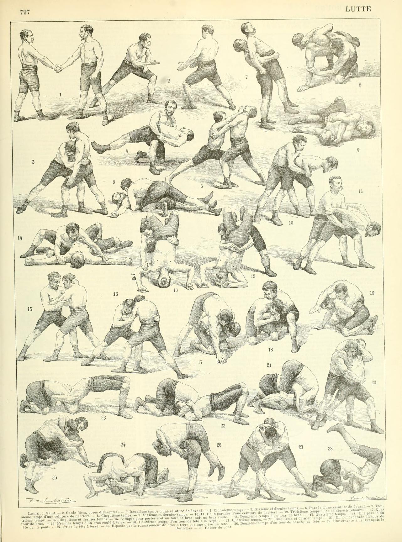 Nouveau Larousse illustré : Lutte