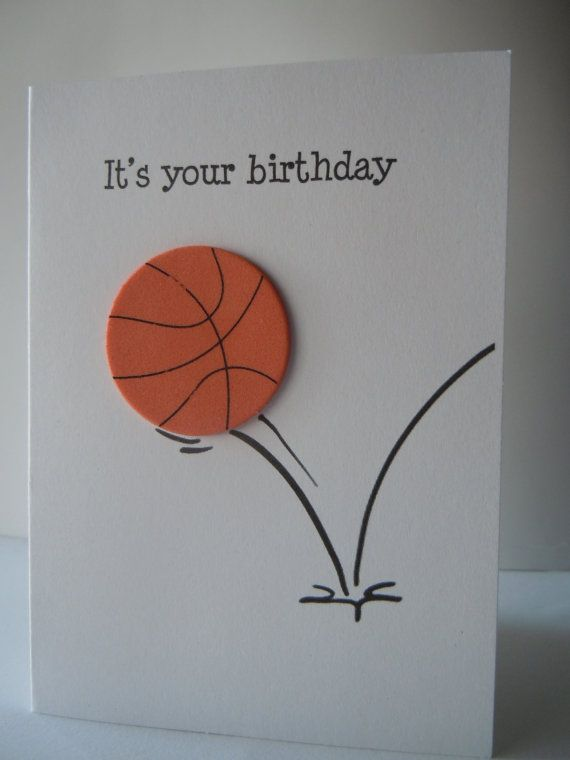Basketball Birthday Card Basketball Card Happy Birthday Etsy Greeting Cards Handmade Birthday Cards For Boys Basketball Birthday Cards