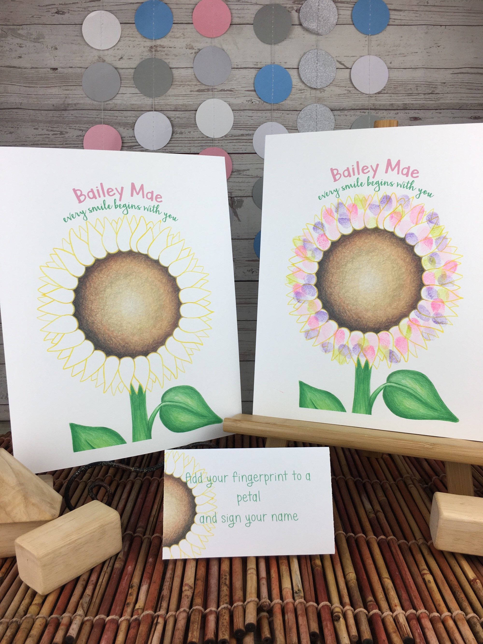 Best Baby Shower Idea Have Guests Add Their Fingerprints And