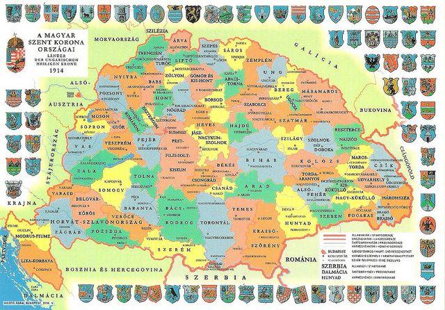 Hungary before world war i map card hungary before world war i map card via flickr gumiabroncs Choice Image