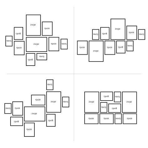 10er Bilderrahmen-Collage Basic Collection, Modern, Weiss, aus MDF, inklusive Zubehör / Foto-Collage / Bildergalerie / Bilderrahmen-Set Bilderrahmen-Sets 10er Set