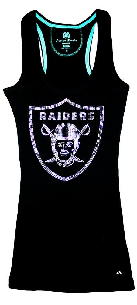 Oakland Raiders Bling Sparkle Jersey Tank Top Or Tee Oakland Raiders Nfl Raiders Raiders Girl