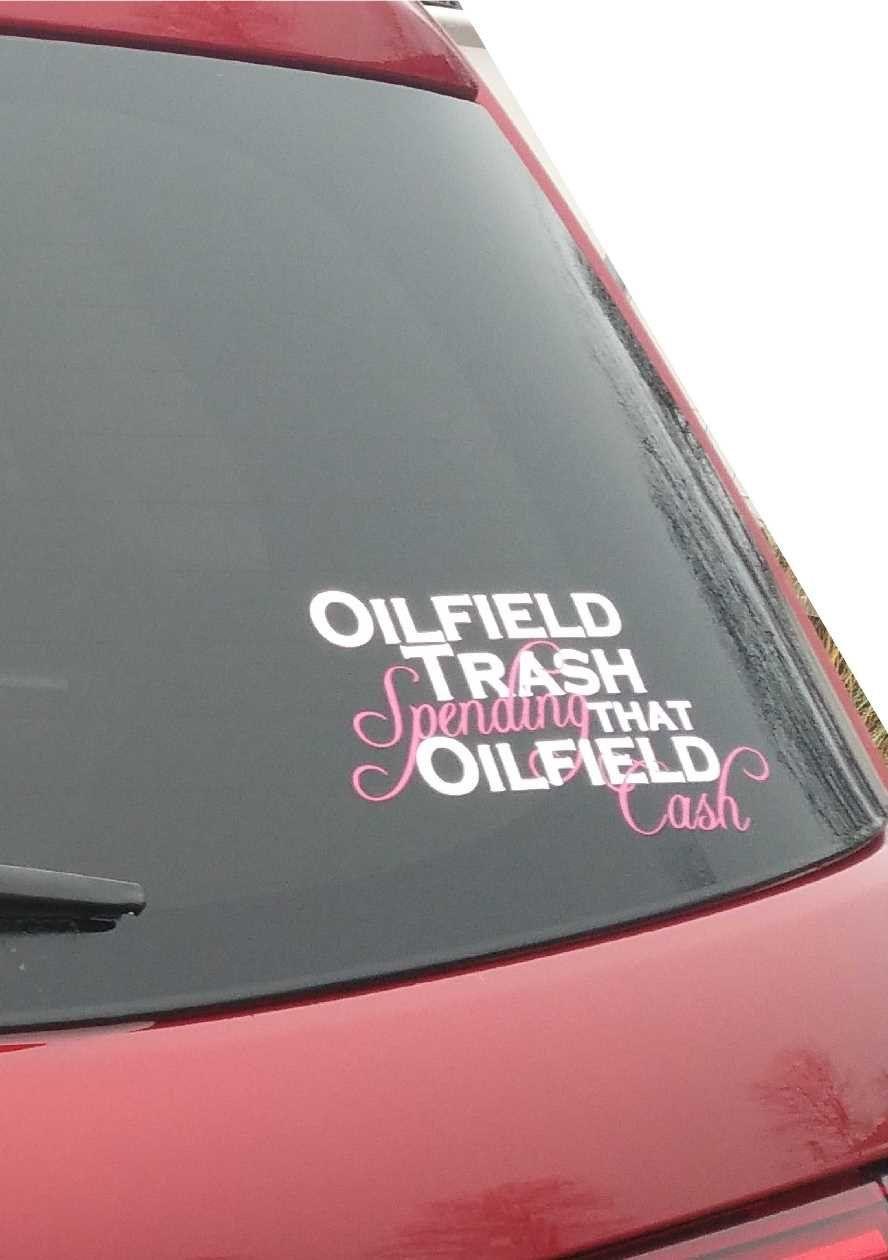 OILFIELD WIFE Decal Vinyl Car Window Sticker ANY SIZE