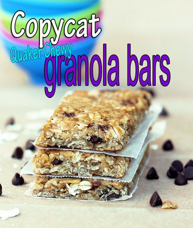 These really do taste just like Quaker Chewy Granola Bars, without all the artificial ingredients and corn syrup!
