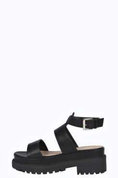 6365d8d48 Alaia Ankle Band Cleated Flat Gladiator Sandal at boohoo.com | •Des ...