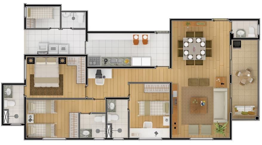Plano departamento 3 dormitorios marpyno2 pinterest for Departamentos planos