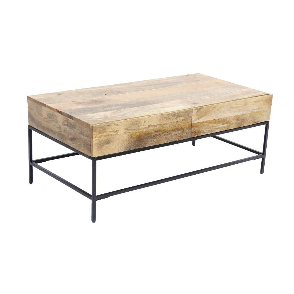 The Urban Port 45 In Brown Black Large Rectangle Wood Coffee Table With Drawers Upt 39290 The Home Depot Coffee Table Mango Wood Coffee Table Coffee Table Wood [ 1000 x 1000 Pixel ]