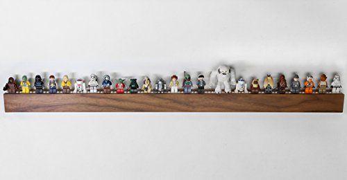 "Lego Display / Storage Shelf for 25 Figures / Minifigs, Solid American ""Black"" Walnut, by Chroble"