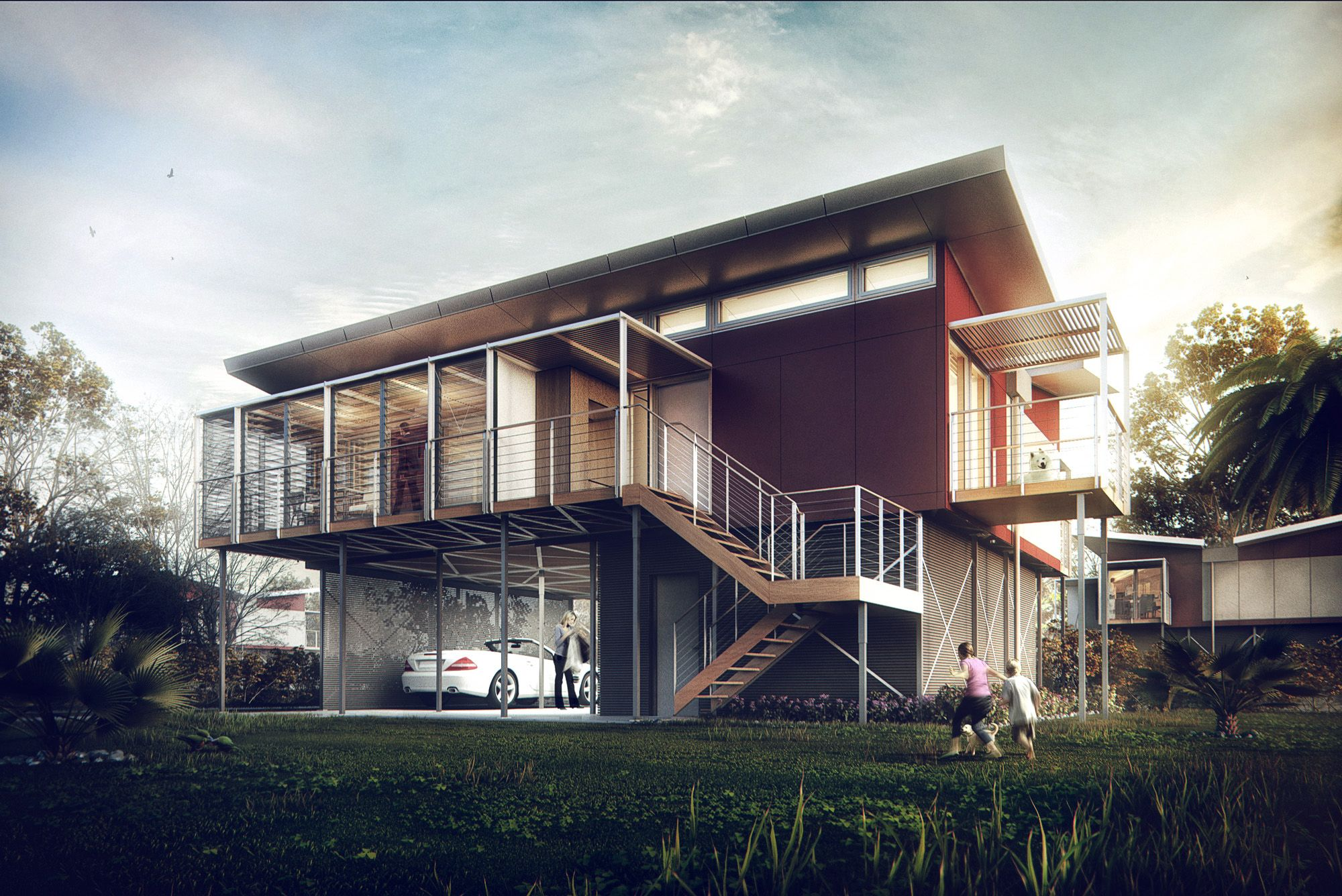Kiribati house by s rgio mer ces architecture 3d Hd home design 3d