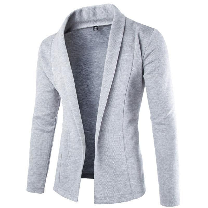 bfa41c7d11 New Fashion Men Stylish Long Sleeve Slim Fit Knit V-Neck Cardigan Long  Sweater Coat