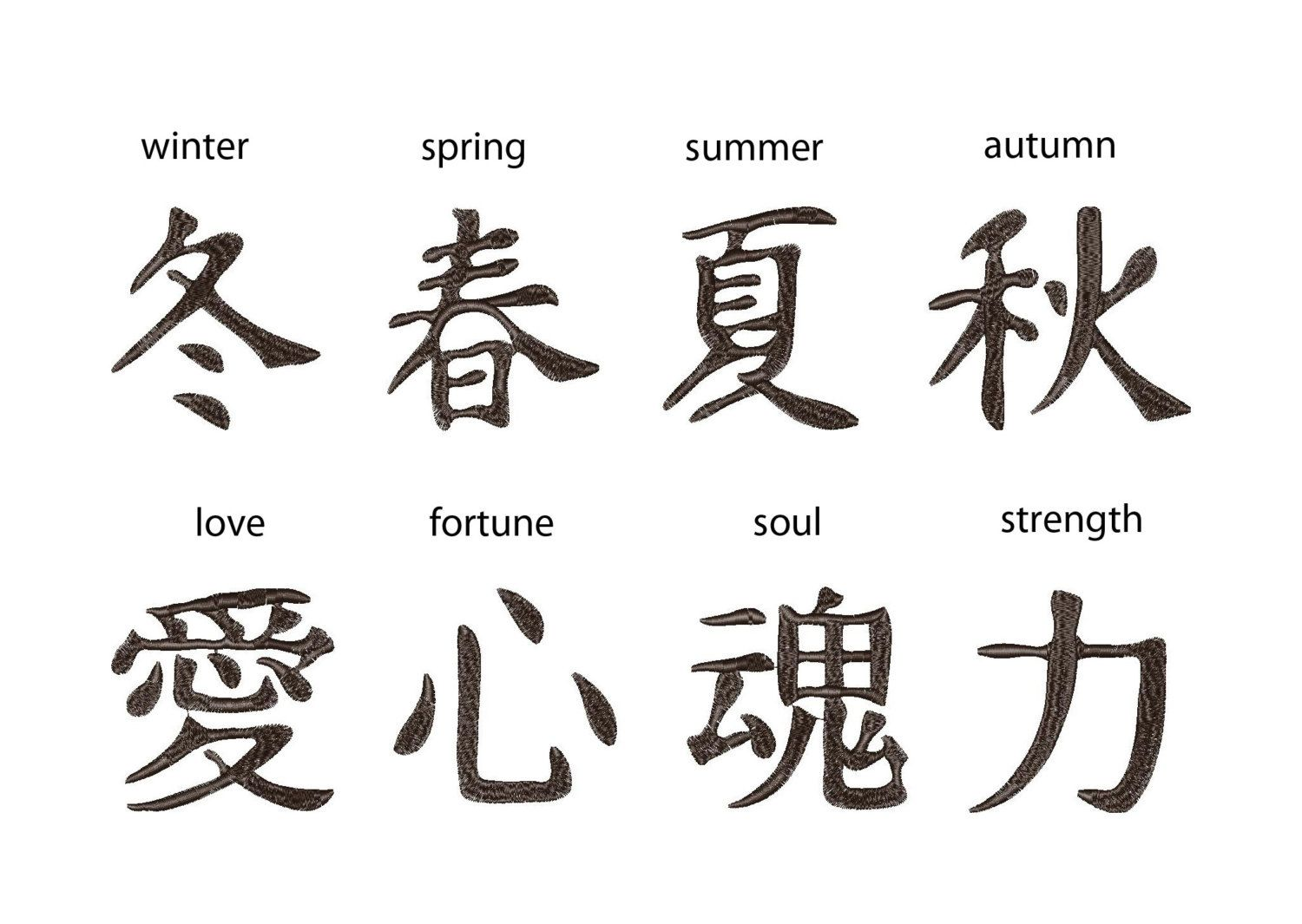 Image Gallery Japanese Calligraphy Strength