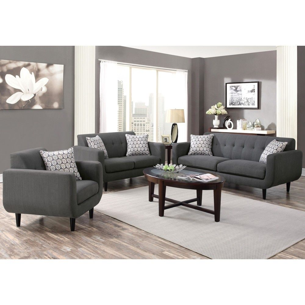Midcentury Modern Design Grey Living Room Collection Sofa - Buy a sofa on finance