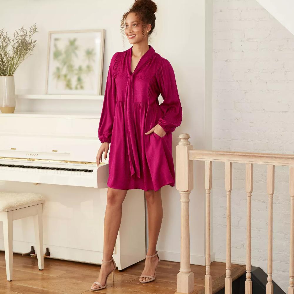 Women S Long Sleeve Babydoll Dress A New Day Target Long Sleeve Babydoll Dress Women Long Sleeve Women Long Sleeve Dress [ 1000 x 1000 Pixel ]