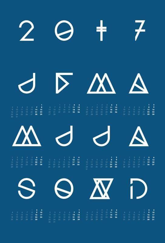 Schön Geometrical Calendar Indigo Alu Dibond Druck Jetzt Bestellen Unter: Https:// Moebel.ladendirekt.de/dekoration/bilder Und Rahmen/poster/?uidu003d6f3389e7u2026