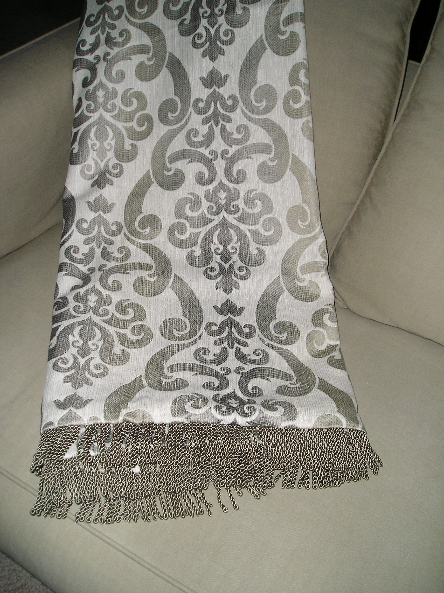 If you are looking for a unique wedding gift, please check this one of a kind throw out, there are many selections available on my website at www.alexandrasoriginals.com.  This throw is neutral with gray, cream, and hints of taupe in certain lights---would go anywhere.  Please contact me for pricing and details--ready for immediate shipment.  Would love to hear your comments, thanks so much for looking!