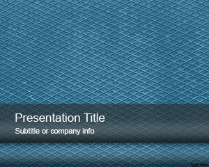 Blue Metal Sheet Powerpoint Template For Presentations On