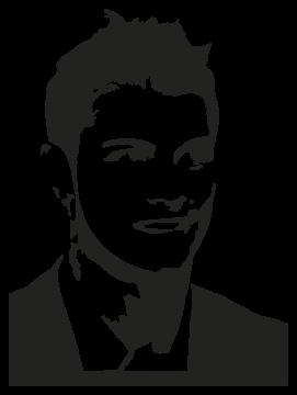 Stickers Cristiano Ronaldo Stickers Personnages L Art De La Silhouette Dessin Foot Comment Dessiner Un Portrait