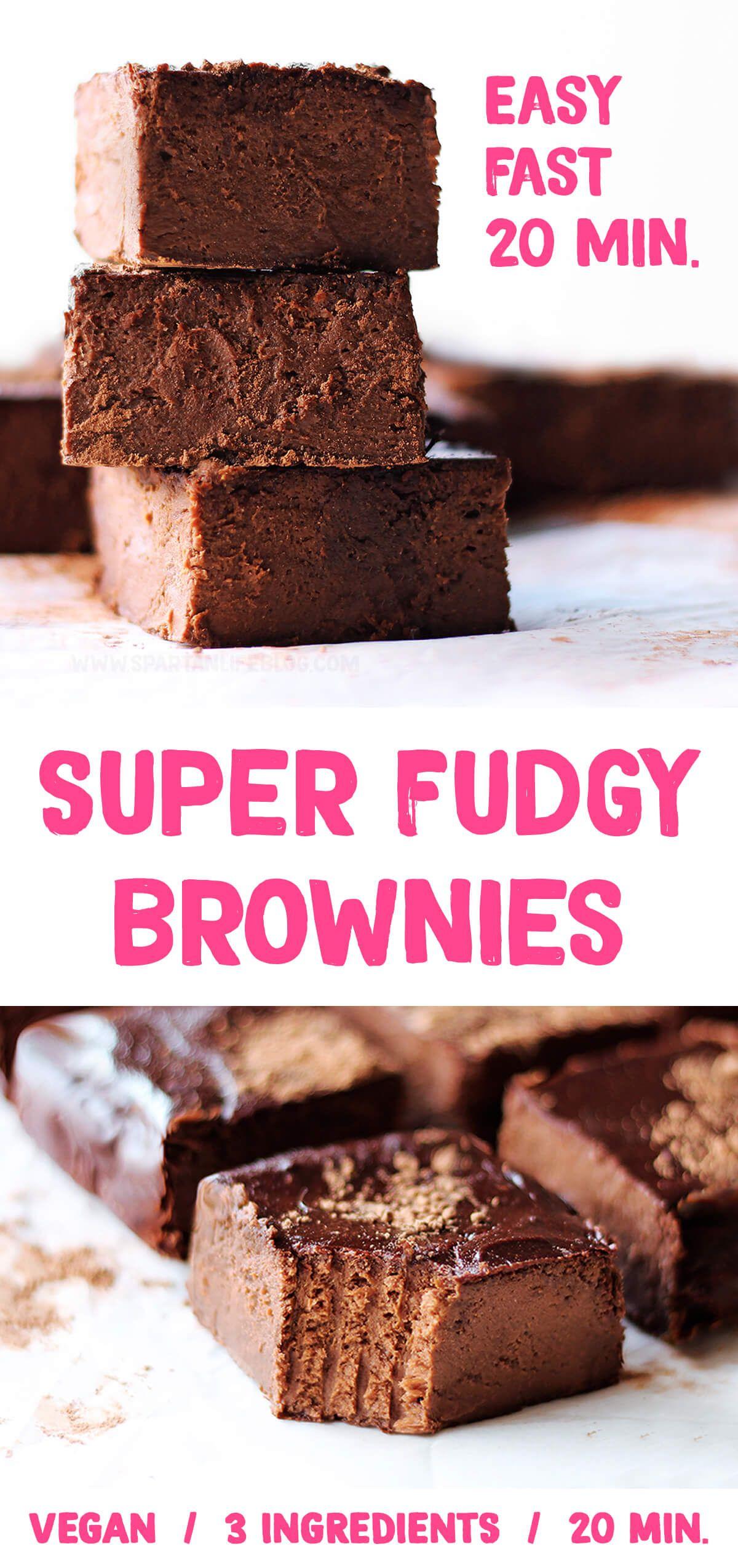 Super Fudgy Brownies Healthy Vegan Brownies Recipe In 2020 Healthy Vegan Brownies Brownie Recipes Brownie Recipes Healthy