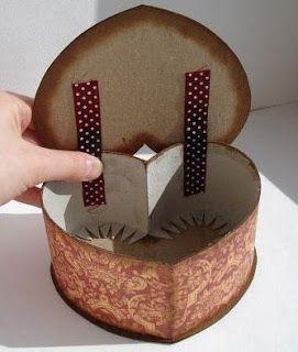 Cómo hacer una caja corazón de cartón reciclado ~ lodijoella
