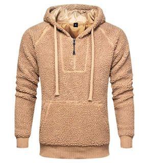 Geek Lighting Men S Sherpa Quarter Zip Pullover Warm Cozy