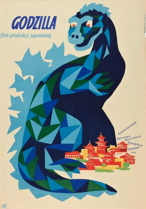 Godzilla polish movie posters films best film poster also images on pinterest king kong monsters and rh
