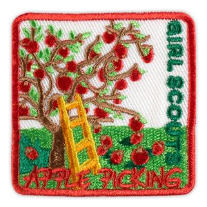 APPLE PICKING TREE SEWON PATCH Girl scout patches
