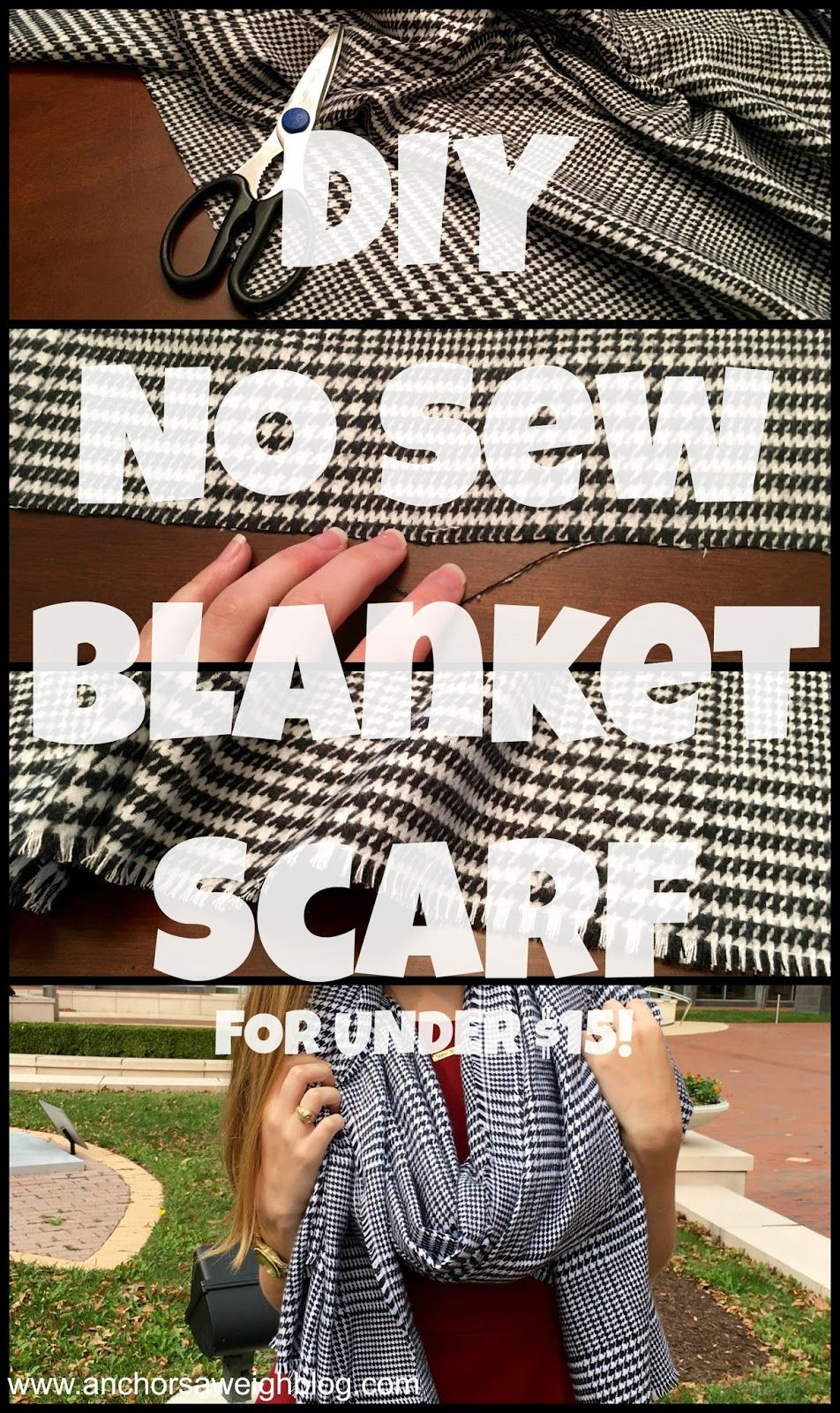 DIY No Sew Blanket Scarf | Share Your Craft | Pinterest ...