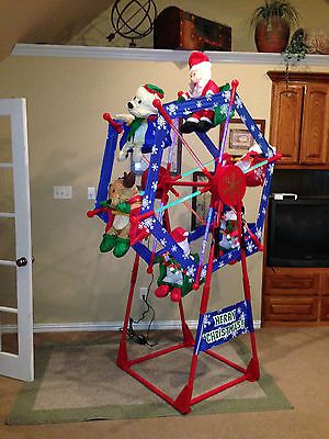 Gemmy Christmas Ferris Wheel Inflatable Airn Yard Outdoor