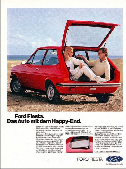 Ford Fiesta Magazine Ad Anzeige Ams 1979 Retro Cars