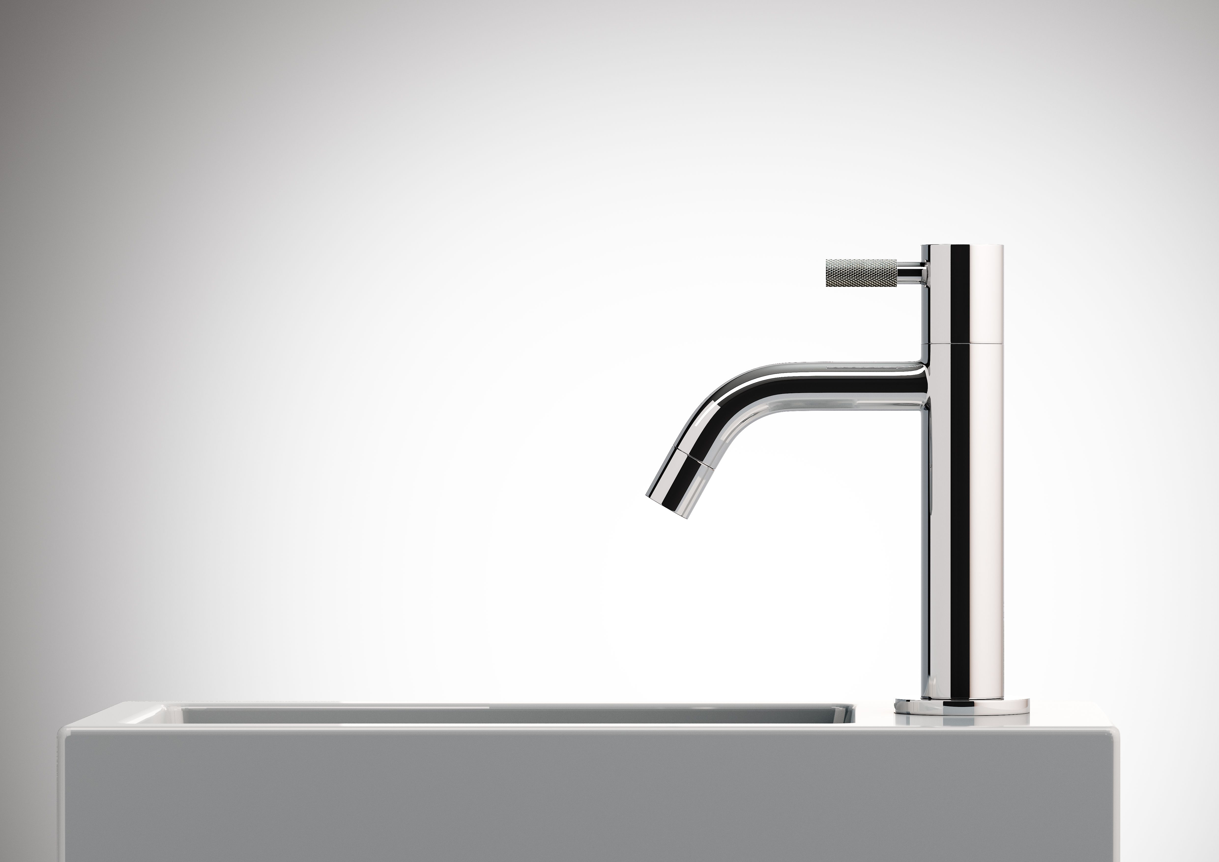 Wash hand basin with cold water tap by clou flush 3 clou