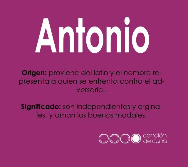 Antonio Significados De Los Nombres Nombres Buenos Modales
