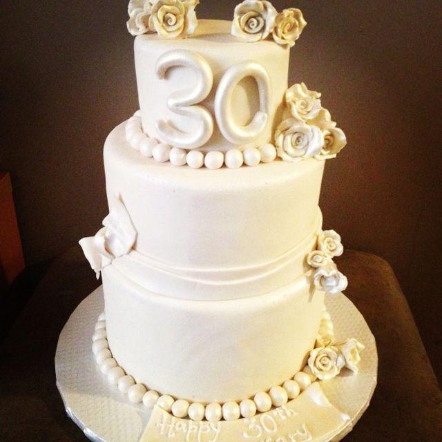 30th Wedding Anniversary Cake Fondant Cakes Pinterest 30th