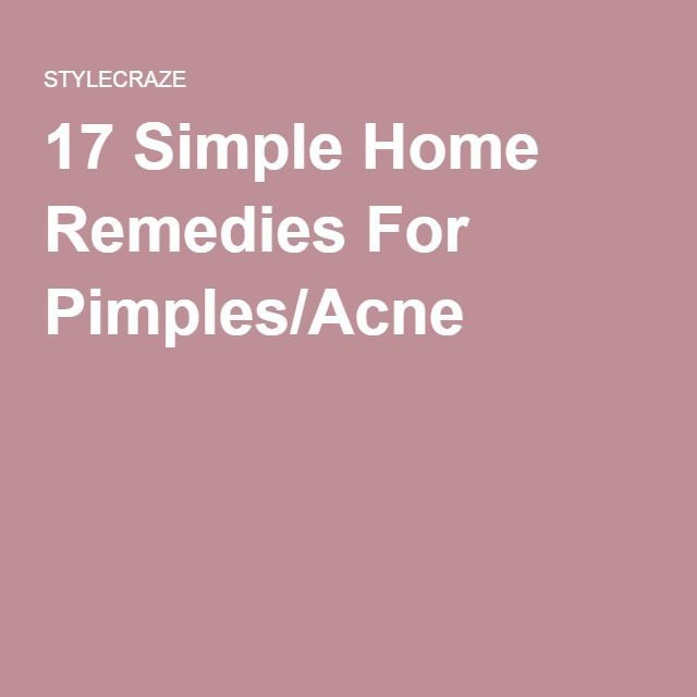 17 Simple Home Remedies For Pimples/Acne #SkinCarePimplesHomeRemedies #homeremediesforringworm