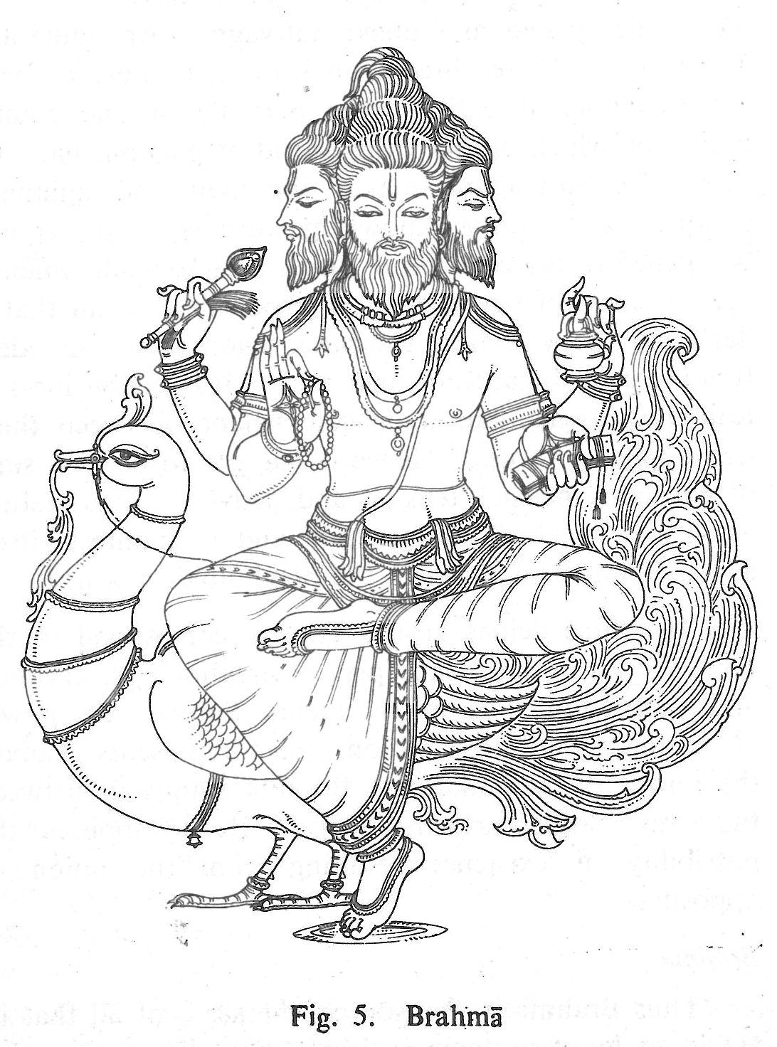 Line Art Hindu Gods : Brahma hindu gods coloring book pinterest indian