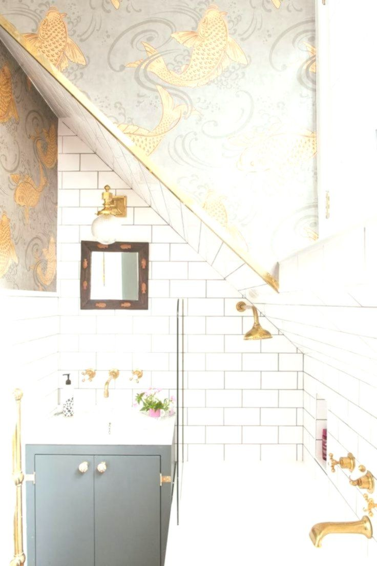 Golden Koid Fish Bathroom Wallpaper Ideas on White Attic Bathroom Ideas – Home