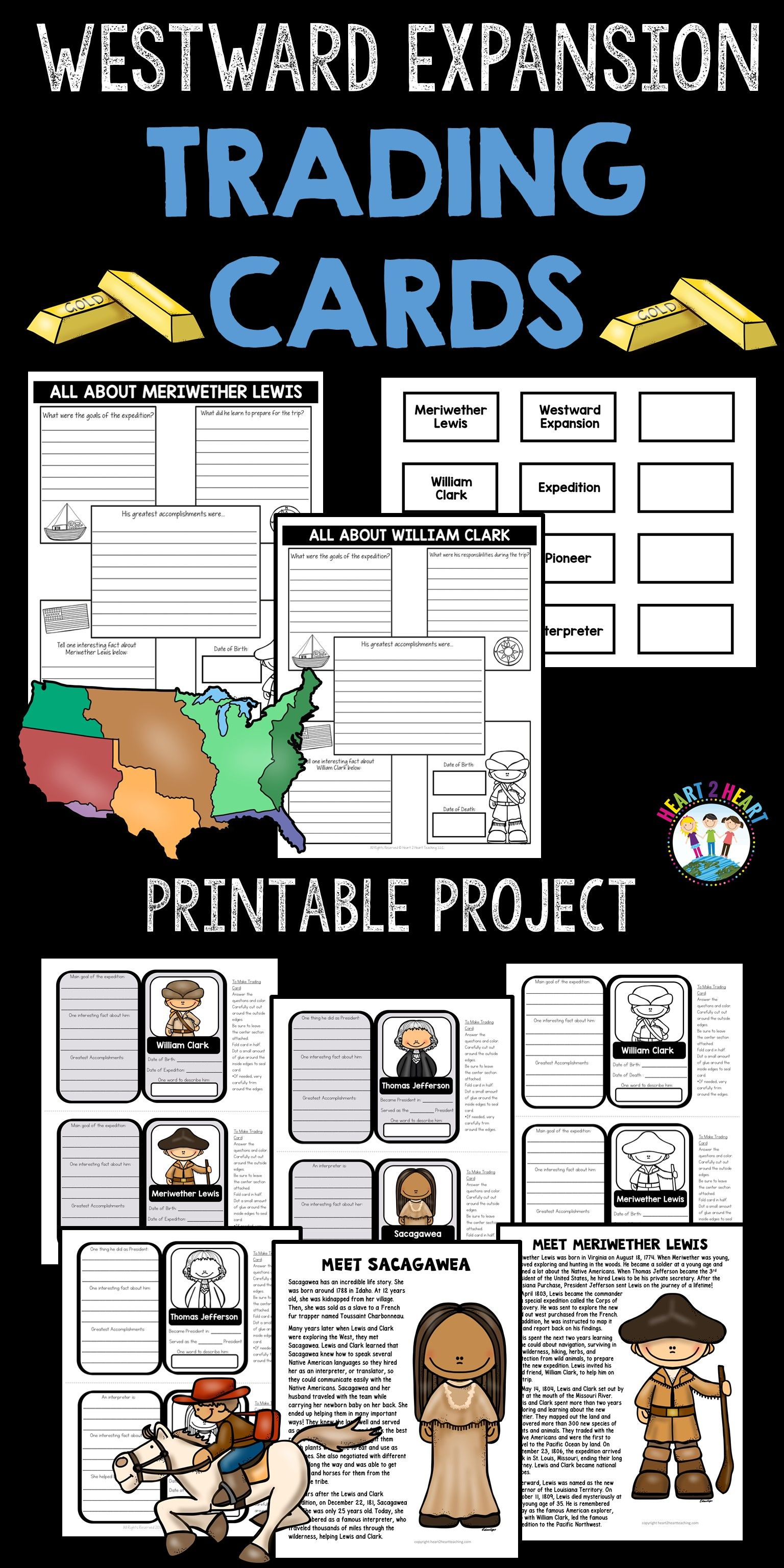Westward Expansion Project Create Your Own Trading Cards