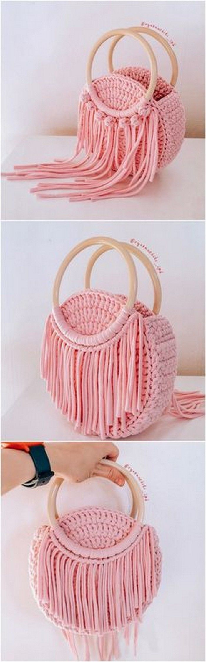 Photo of Fashionable Ladies handbag crochet desgin