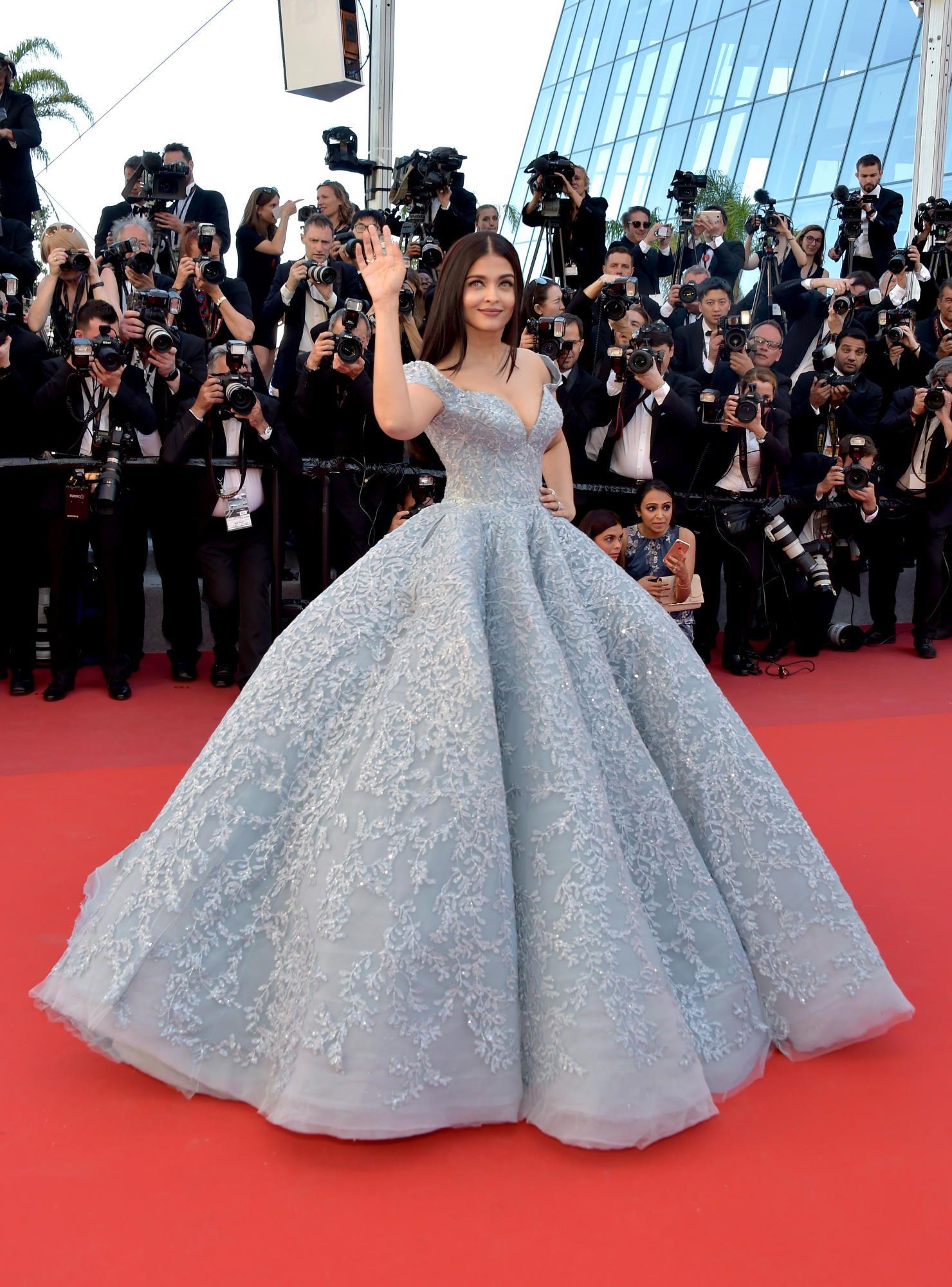 Aishwarya Rai Bachchan in Michael Cinco Couture. Photo: Pascal Le Segretain/Getty Images.