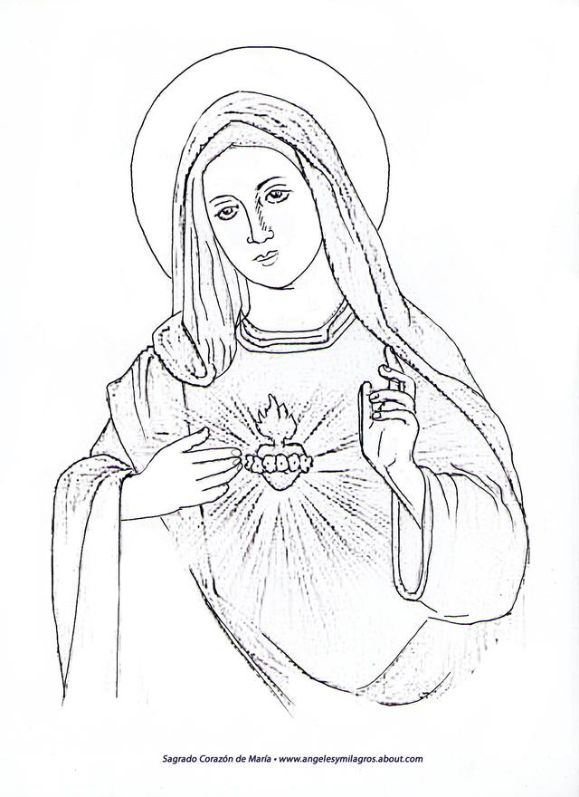 Inmaculado Corazon De Maria Y Sagrado Corazon Juntos Para Colorear Buscar Con Google Dibujos De Jesus Virgen Maria Dibujo Arte De Jesus